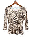 Women's Long Sleeve Animal Prints Shirt Royalty Free Stock Image