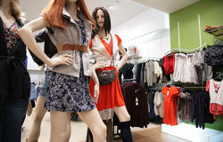 Women`s mannequin in store 2 Stock Photos