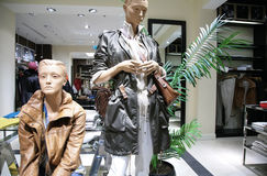 Women`s mannequin in store Stock Photos