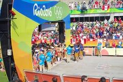 Women`s marathon run at Rio2016 Royalty Free Stock Photos