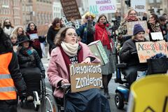 Women`s March 2020 in Amsterdam