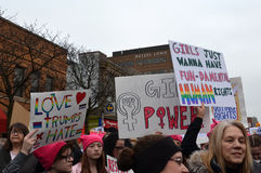 Women`s March Ann Arbor 2017 Stock Photography