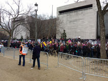 Women`s March Crowd Marching, Washington, DC, USA Royalty Free Stock Photo