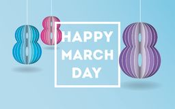 Women`s march day background paper style. Stock Photos