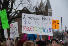 Women`s March on Lansing, Michigan royalty free stock photo