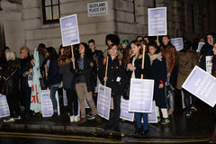 Women's only march in London Reclaim the Night 2014 Royalty Free Stock Image