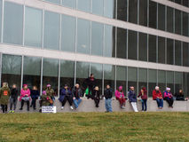Women`s March, National Gallery of Art East Building, Washington, DC, USA Royalty Free Stock Photo