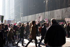 2017 Women`s March on New York City Stock Photos