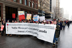 Women`s March in Ottawa Royalty Free Stock Images