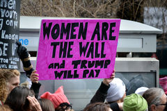 Women`s march. Royalty Free Stock Photos