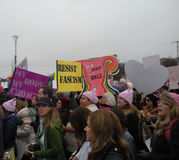 Women`s March, Resist Fascism, My Body My Choice, Pro-Choice, Signs and Posters, Washington, DC, USA royalty free stock images