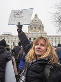Women`s March, Saint Paul, Minnesota, USA Stock Photo