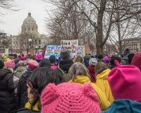 Women`s March, Saint Paul, Minnesota, USA Stock Photos