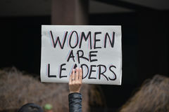 Women`s march. Royalty Free Stock Images