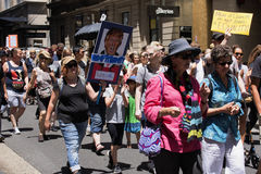 Women`s March, Sydney - Australia Royalty Free Stock Photography