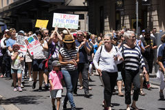 Women`s March, Sydney - Australia Stock Photography