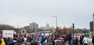 Women`s March Toward Capitol Stock Photo