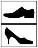 Women's and men's shoe Stock Photo