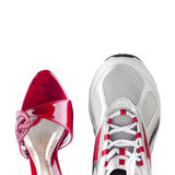 Women's and men's shoes Royalty Free Stock Photography