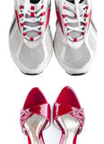 Women's and men's shoes Royalty Free Stock Photos