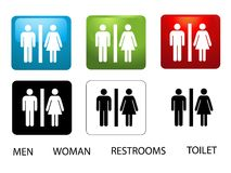 Women's and Men's Toilets Royalty Free Stock Photos