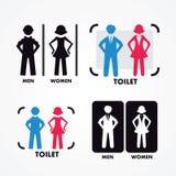 Women's and Men's Toilets Stock Photos