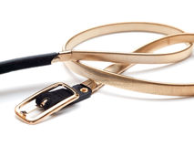 Women's metallic fashion belt Stock Photo