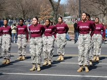 Free Women`s Military Drill Team Royalty Free Stock Image - 111997846