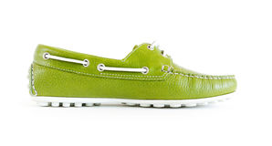 Women`s modern style moccasin Royalty Free Stock Photos