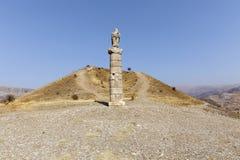 Women's Monument Tomb( Karakus Royal Tumulus), Turkey. Women's Monument Tomb, Kahta, Adiyaman,Turkey Stock Photos