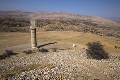 Women's Monument Tomb( Karakus Royal Tumulus), Turkey. Women's Monument Tomb, Kahta, Adiyaman,Turkey Stock Photography