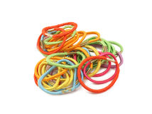Women's multi-colored rubber bands Stock Photo