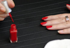 Women's nail painting Royalty Free Stock Photography