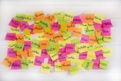 Women's names Stock Photo