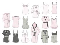 Women's negligees and robes Royalty Free Stock Image