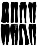 Women's pants. Vector illustration of women's pants Royalty Free Stock Photography