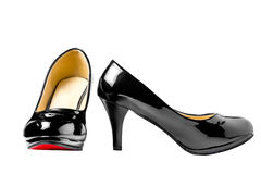 Women's patent leather shoes Stock Image