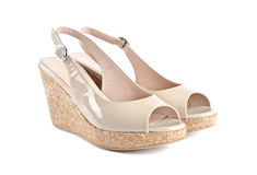 Women's Patent Wedge Sandals #1 Stock Photography