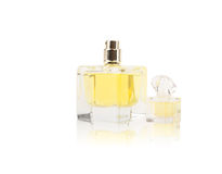 Women`s perfume in beautiful bottle Royalty Free Stock Photos