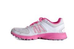 Women's pink running shoe - sneaker Royalty Free Stock Images