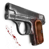 Women's pistol. Female scratched pistol, isolated on a white background Stock Photo