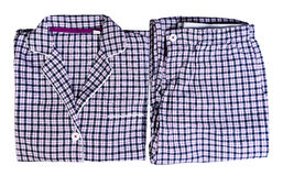 Women's plaid pajamas Royalty Free Stock Photo