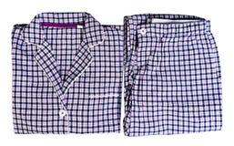 Women's plaid pajamas Royalty Free Stock Photo