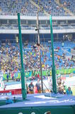 Women's pole vault competition Stock Image