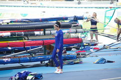 Women's pole vault competition. Women's pole vault qualifying round at Rio2016 Olympics. Photo taken on Aug 16th 2016 Stock Photos