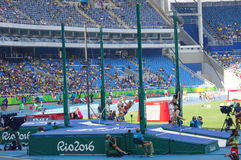 Women's pole vault competition Stock Photography