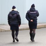 The women`s police patrol royalty free stock photography