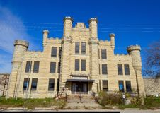Women's Prison. This is a picture of the Illinois Women's Prison in Joliet, Illinois. The women's prison was part of the Joliet Correctional Center.  The prison Stock Images