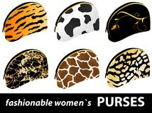 Women`s purses Royalty Free Stock Photos