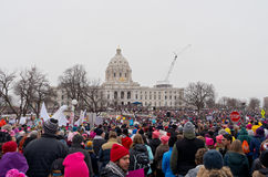 Women`s Rally at State Capitol Stock Photography